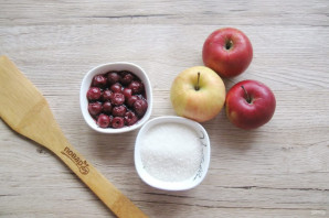 Вишневое варенье с яблоками - фото шаг 1