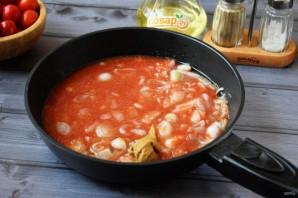 Жареная курица с луком-шалот и помидорами - фото шаг 4