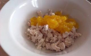 Персики, фаршированные курицей - фото шаг 7