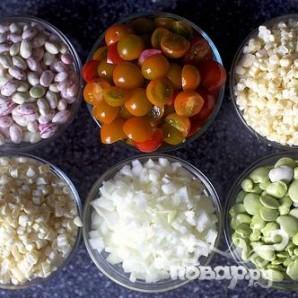 Салат из фасоли, кукурузы и бекона - фото шаг 1