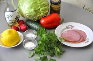 Салат из молодой зелёной капусты - фото шаг 1