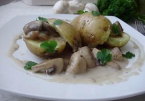Картошка под грибным соусом - фото шаг 5