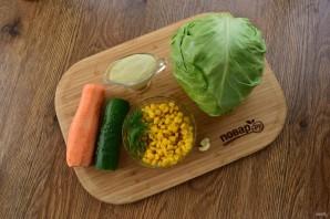 Легкий овощной салат на праздник - фото шаг 1