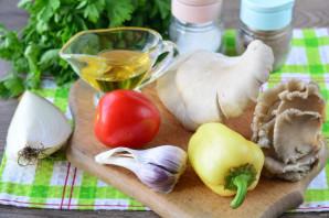 Теплый салат с вешенками - фото шаг 1