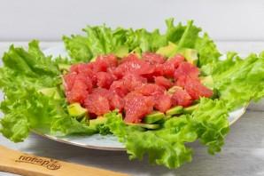 Салат из креветок с грейпфрутом и авокадо - фото шаг 6