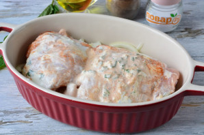 Курица с мятой в духовке - фото шаг 6