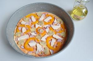 Пицца с курицей (пошаговый рецепт) - фото шаг 7