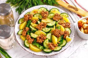 Салат с тунцом и сухариками - фото шаг 5