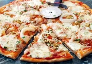 Пицца с кальмарами - фото шаг 8