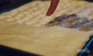 Фокачча с луком, розмарином и фетой - фото шаг 9