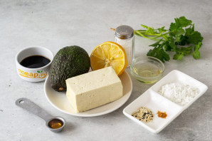 Закуска из тофу с авокадо - фото шаг 1