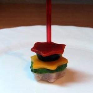 Канапе из мяса и овощей - фото шаг 8