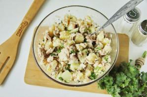 Рыбный салат из консервов с картошкой - фото шаг 6