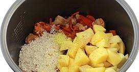 Суп с мясом в мультиварке - фото шаг 7