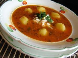 Картофельный суп с помидорами - фото шаг 6