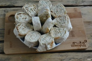 Лаваш с сыром и укропом - фото шаг 6
