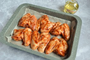 Куриные крылышки барбекю в духовке - фото шаг 5