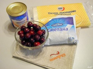 Торт из слоеного теста со сгущенкой - фото шаг 1