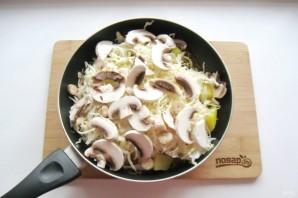 Капуста с грибами и картошкой - фото шаг 6