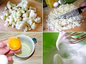 Оладьи из брокколи и цветной капусты - фото шаг 1