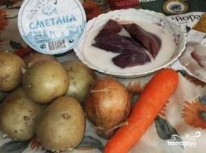 Картофель с печенью в мультиварке - фото шаг 1