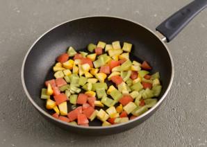 Салат из жареных овощей - фото шаг 3