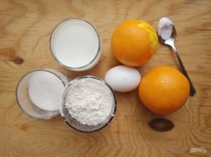 Панкейки с апельсином - фото шаг 1