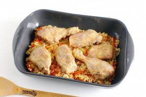 Курица с рисом в духовке - фото шаг 6