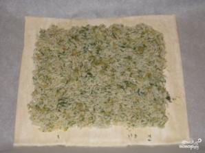 Пирог с семгой и рисом - фото шаг 1