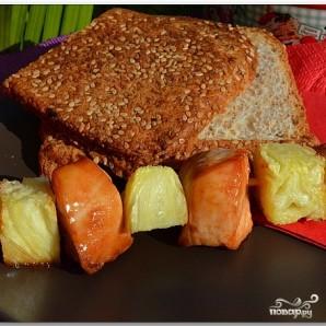 Куриный шашлык с ананасом - фото шаг 7
