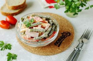 Салат со стручковой фасолью и ветчиной - фото шаг 8