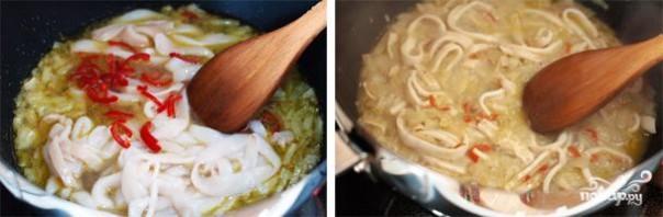 Спагетти с кальмарами - фото шаг 4