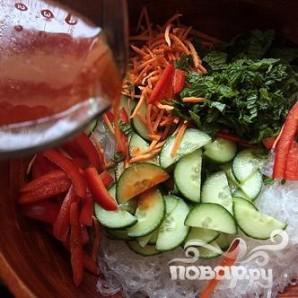 Вьетнамский салат из рисовой лапши с тофу - фото шаг 4