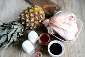 Курица, запеченная с ананасами - фото шаг 1