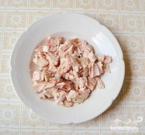 Салат с курицей и дайконом - фото шаг 5