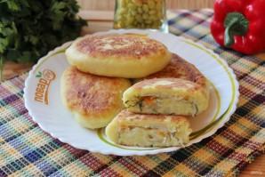 Жареные картофельные пирожки с квашеной капустой - фото шаг 15
