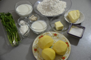 Осетинские лепешки с картошкой - фото шаг 1