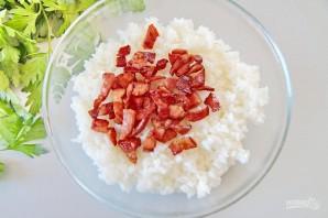 Японские рисовые шарики с сыром - фото шаг 2