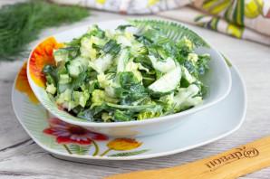 Зеленый салат без майонеза - фото шаг 6