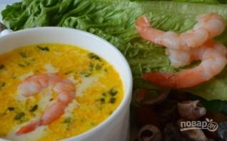 Суп сырный с креветками - фото шаг 9