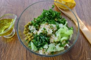 Витаминный салат с рисом - фото шаг 4