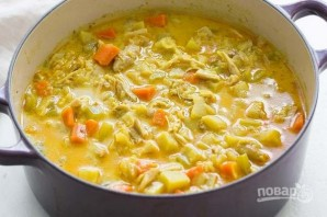 Зимний суп с курицей - фото шаг 9