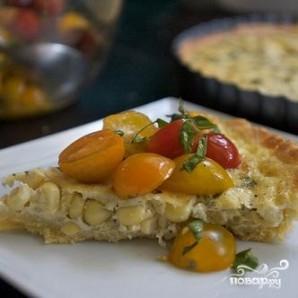 Тарт с кукурузой и базиликом - фото шаг 7