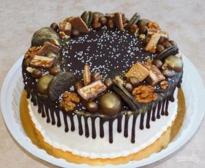 Торт с подтеками - фото шаг 7