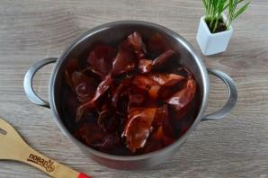 Крашеные яйца луковой шелухой (коричневые) - фото шаг 6