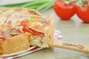 Французский пирог с кукурузой и помидорами - фото шаг 12