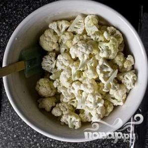 Запеченная цветная капуста с йогуртом и гранатом - фото шаг 2