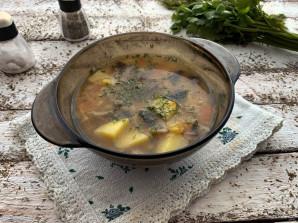 Постный гороховый суп с шампиньонами - фото шаг 10