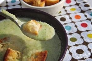 Суп из брокколи с крутонами - фото шаг 8