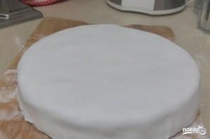 Детский торт с мастикой - фото шаг 9